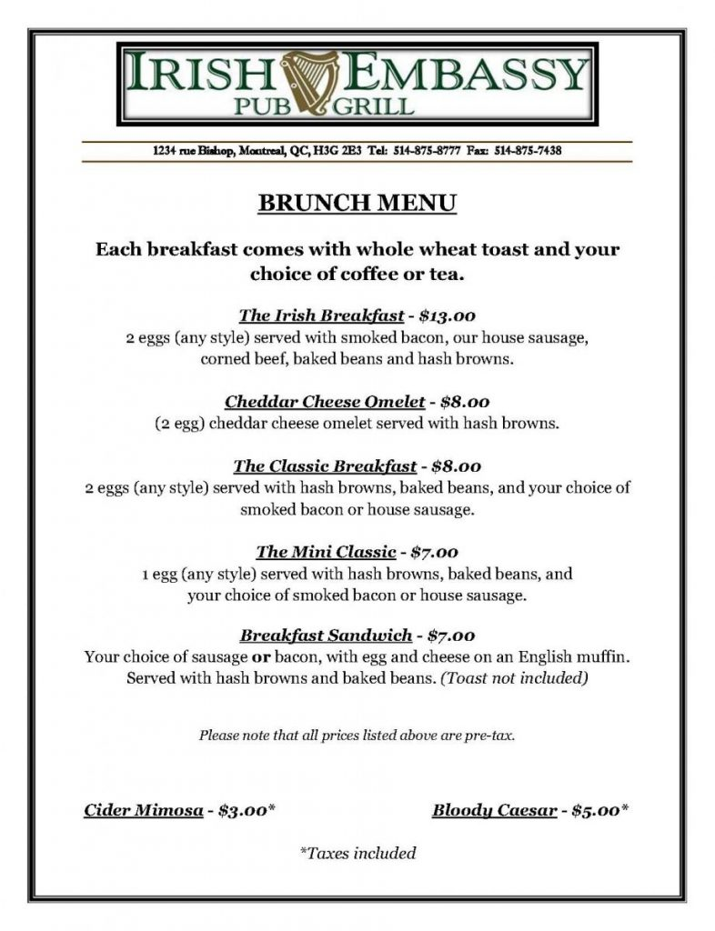 Pages from Brunch Menu Jan 2016