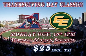Thanksgiving Day Classic @ Percival Molson Stadium
