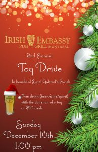 Irish Embassy Toy Drive